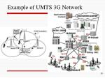 example of umts 3g network