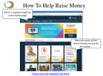how to help raise money