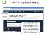 how to help raise money7