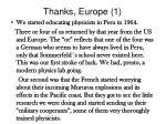 thanks europe 1