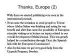 thanks europe 2