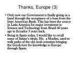 thanks europe 3