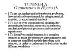 tuning la competences in physics 1