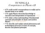 tuning la competences in physics 2