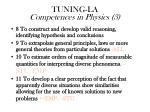 tuning la competences in physics 3