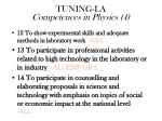 tuning la competences in physics 4