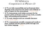 tuning la competences in physics 5