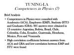 tuning la competences in physics 7