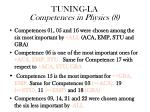 tuning la competences in physics 8