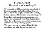 tuning peru the motion of a sowbug 31