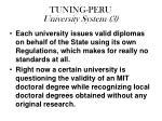 tuning peru university system 3