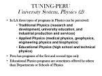 tuning peru university system physics 2
