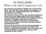 tuning peru what to do with competences 1
