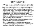 tuning peru what to do with competences 2