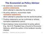 the economist as policy advisor