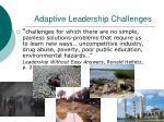 adaptive leadership challenges
