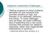adaptive leadership challenges1