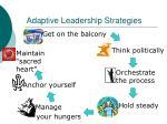 adaptive leadership strategies