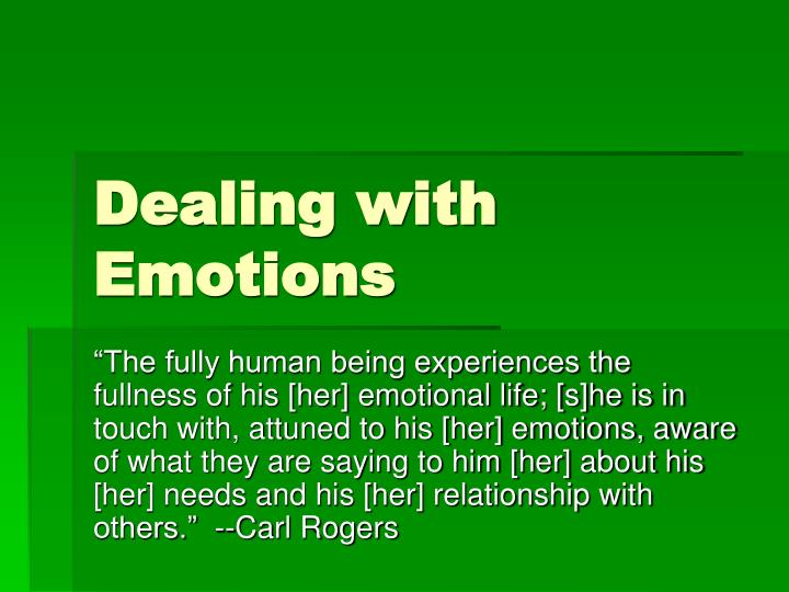 dealing with emotions n.