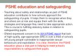 pshe education and safeguarding