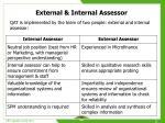 external internal assessor