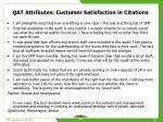 qat attributes customer satisfaction in citations