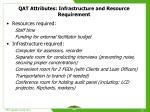 qat attributes infrastructure and resource requirement