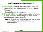 qat implementation steps 1