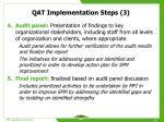 qat implementation steps 3