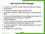 qat uses for mfi manager