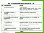 sp dimensions assessed by qat