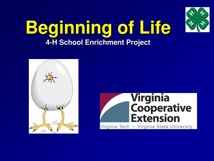 beginning of life 4 h school enrichment project n.