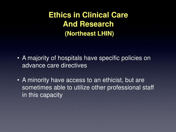 Ethics in Clinical Care
