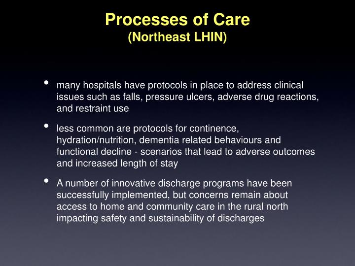 Processes of Care
