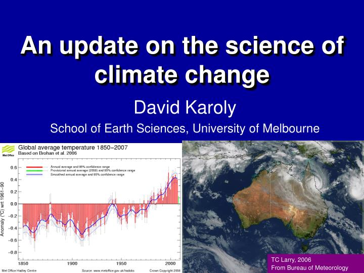 an update on the science of climate change n.