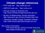 climate change references