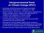 intergovernmental panel on climate change ipcc