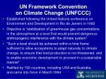 un framework convention on climate change unfccc