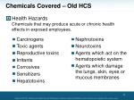 chemicals covered old hcs1