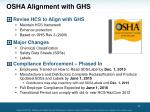 osha alignment with ghs