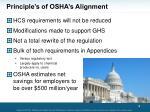 principle s of osha s alignment