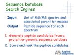 sequence database search engines1