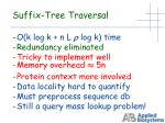 suffix tree traversal