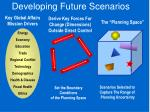 developing future scenarios
