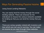 ways for generating passive income3