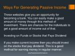 ways for generating passive income4