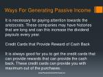 ways for generating passive income5
