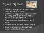 physics big ideas