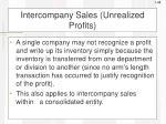 intercompany sales unrealized profits