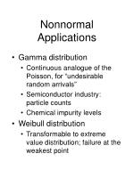 nonnormal applications